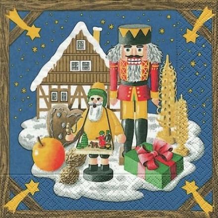 Χριστουγιεννιάτικη Χαρτοπετσέτα για Decoupage, Weihnachtsland / 619765