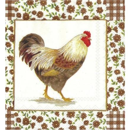 Χαρτοπετσέτα για Decoupage, Cottage charm (light brown) / L-491639