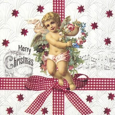 Χριστουγιεννιάτικη Χαρτοπετσέτα για Decoupage, NOSTALGIC ANGEL / L-885200