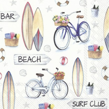Χαρτοπετσέτα για Decoupage, SURF CLUB / L-870800