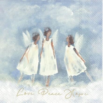 Χαρτοπετσέτα για Decoupage, LOVE PEACE HOPE / L-891400
