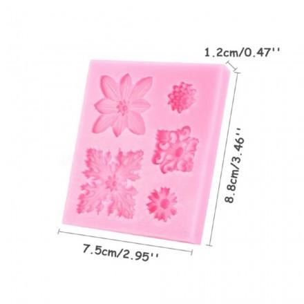 Καλούπι Σιλικόνης 9x7,8x1,3cm Ροζέτες