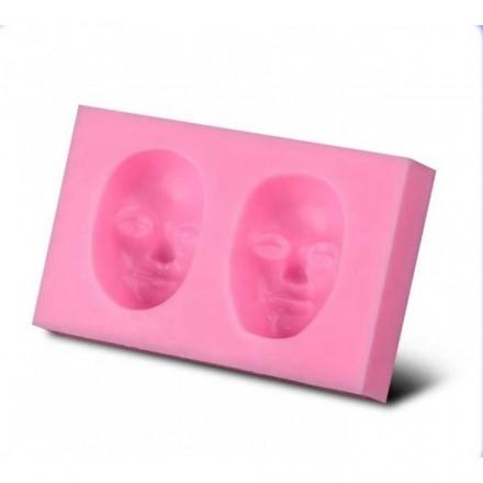 Καλούπι Σιλικόνης 6,2x4x1,8cm, Μάσκα Διπλή