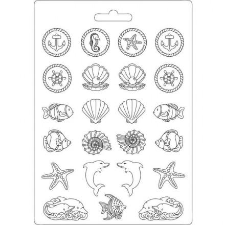 Καλούπι Soft Maxi Mould A4 Stamperia, Sea Land / K3PTA443