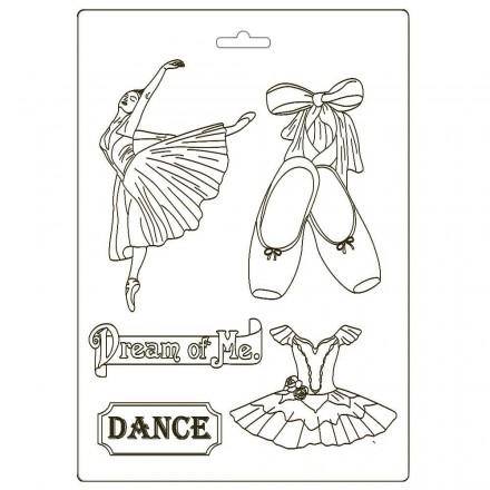 Καλούπι Soft Maxi Mould A4 Stamperia, Passion dancer / K3PTA493