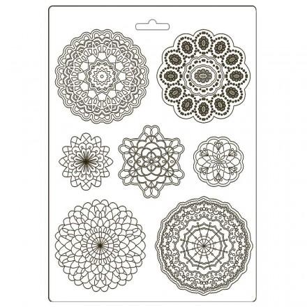 Καλούπι Soft Maxi Mould A4 Stamperia, Passion round lace / K3PTA494