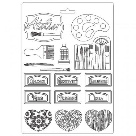 Καλούπι Soft Maxi Mould A4 Stamperia, Atelier Tags / K3PTA497