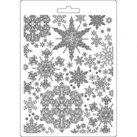 Καλούπι εύκαμπτο A5, 15x21cm, Stamperia, Snowflakes / K3PTA556