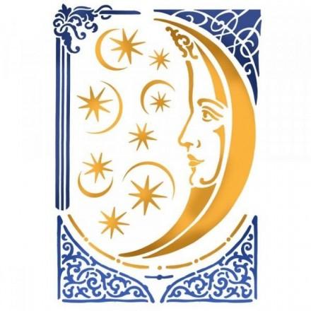 Στένσιλ (Stencil) Stamperia 21x29.7cm, Alchemy Moon / KSG404