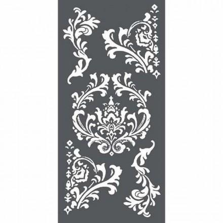 Mix Media Χονδρό Στένσιλ (Stencil) Stamperia 12x25cm, Σχέδια Μπαρόκ / KSTDL19