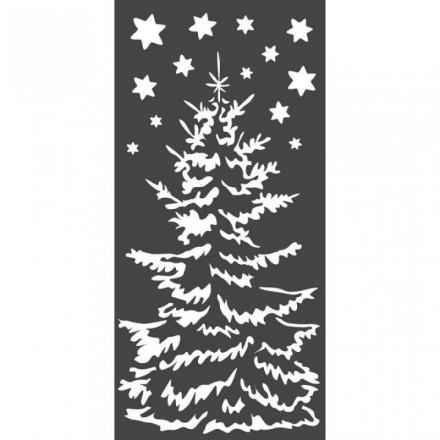 Mix Media Χονδρό Στένσιλ (Stencil) Stamperia 12x25cm, Χριστουγεννιάτικο Δέντρο / KSTDL36