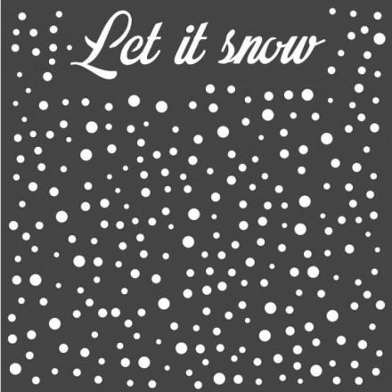 Mix Media Χονδρό Στένσιλ (Stencil) Stamperia 18x18cm, Let it Snow / KSTDQ52