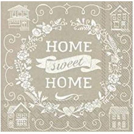 Χαρτοπετσέτα για Decoupage, Home Sweet Home linen / L-599566