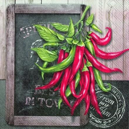 Χαρτοπετσέτα για Decoupage, Fresh Chili / L-599600