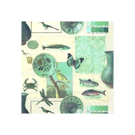 Χαρτοπετσέτα για Decoupage, Collage blue / L-733200