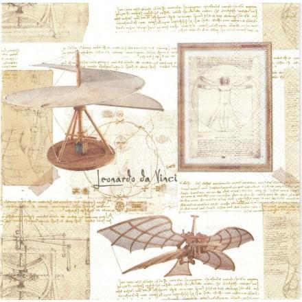 Χαρτοπετσέτα για Decoupage, Leonardo da Vinci / L-737500