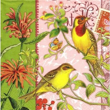 Χαρτοπετσέτα για Decoupage, Birds in paradise / LN0745