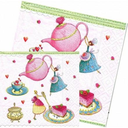 Χαρτοπετσέτα για Decoupage, Little tea party / LN0866