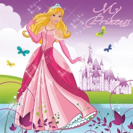 Χαρτοπετσέτα για Decoupage, Beautiful Princess / G-041301