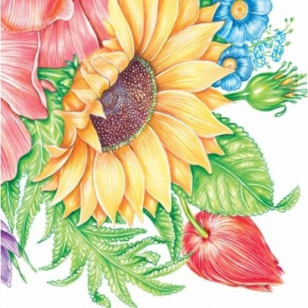 Χαρτοπετσέτα για Decoupage, Sunflower / G-026501