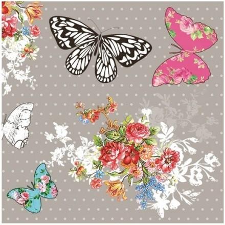 Χαρτοπετσέτα για Decoupage, Vintage butterflies / G-032501