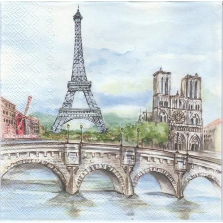 Χαρτοπετσέτα για Decoupage, Paris in Watercolor / G-033901