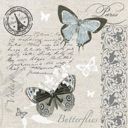 Χαρτοπετσέτα για Decoupage, Butterflies Postcard / SLOG-041101