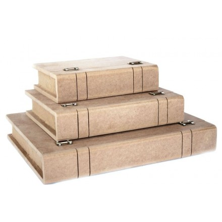 MDF Κουτί Βιβλιο 24x19x5cm, Ελληνικό προϊόν