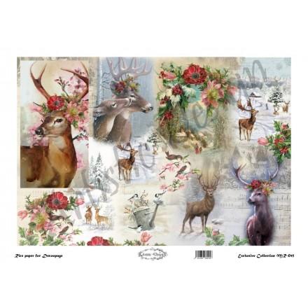 Ριζόχαρτο Artistic Design για Decoupage 30x40cm, Deer / MR015