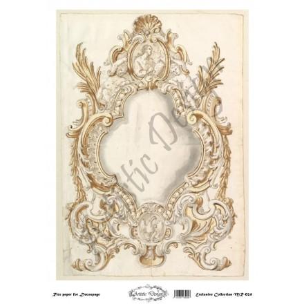 Ριζόχαρτο Artistic Design για Decoupage 30x40cm, Vintage frame / MR024
