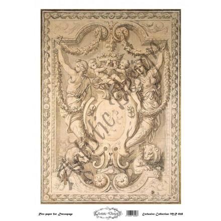 Ριζόχαρτο Artistic Design για Decoupage 30x40cm, Vintage frame / MR028