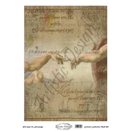 Ριζόχαρτο Artistic Design για Decoupage 30x40cm, Leonardo da Vinci / MR029