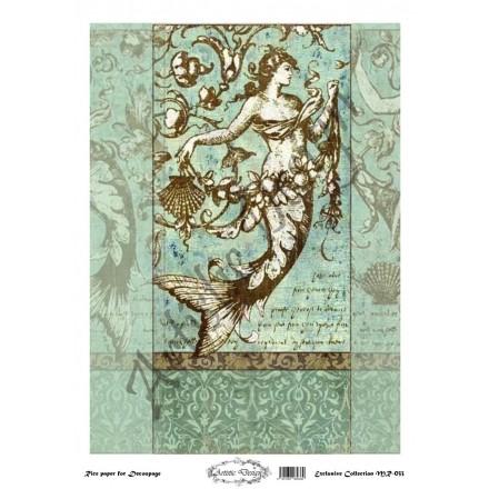 Ριζόχαρτο Artistic Design για Decoupage 30x40cm, Vintage Mermaid / MR033