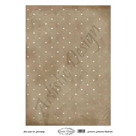 Ριζόχαρτο Artistic Design για Decoupage 30x40cm, Background Dots / MR041