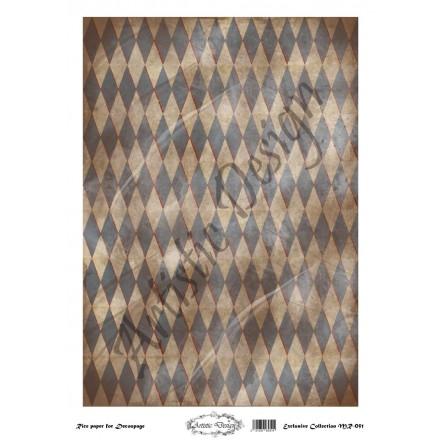 Ριζόχαρτο Artistic Design για Decoupage 30x40cm, Background Rhombus / MR051