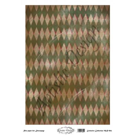 Ριζόχαρτο Artistic Design για Decoupage 30x40cm, Background Rhombus / MR052