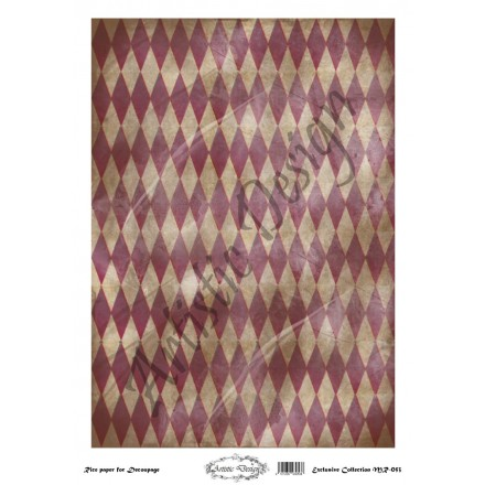 Ριζόχαρτο Artistic Design για Decoupage 30x40cm, Background Rhombus / MR053