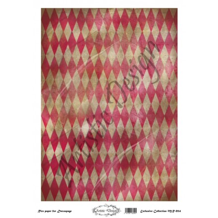 Ριζόχαρτο Artistic Design για Decoupage 30x40cm, Background Rhombus / MR054