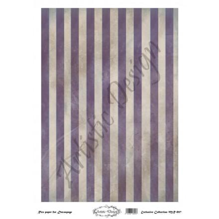 Ριζόχαρτο Artistic Design για Decoupage 30x40cm, Background Stripes / MR057