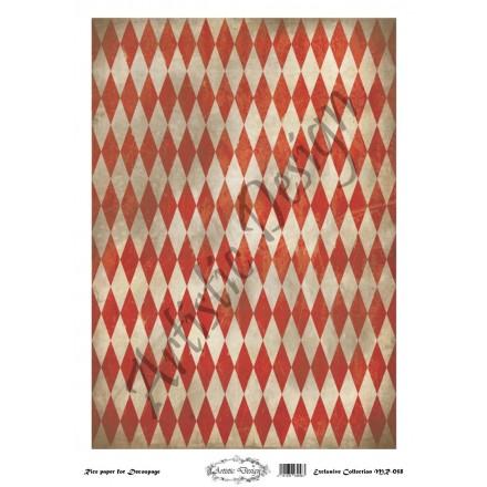 Ριζόχαρτο Artistic Design για Decoupage 30x40cm, Background Rhombus / MR058