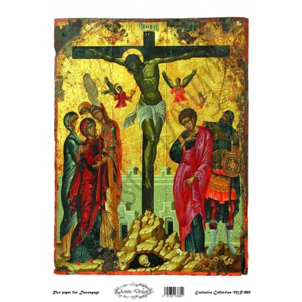 """Ριζόχαρτο Artistic Design για Decoupage 30x40cm, Εικόνα """"Χριστός Σταύρωση"""" / MR880"""
