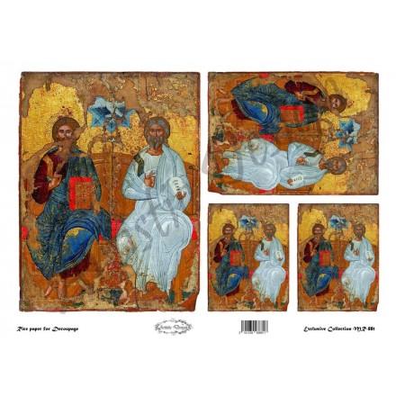 """Ριζόχαρτο Artistic Design για Decoupage 30x40cm, Εικόνα """"Αγία Τριάδα"""" / MR881"""