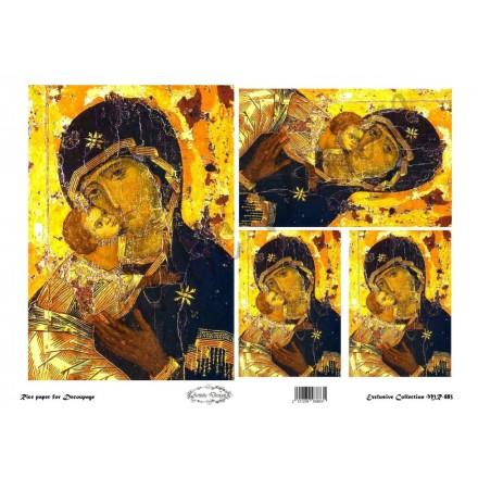 """Ριζόχαρτο Artistic Design για Decoupage 30x40cm, Εικόνα """"Παναγία"""" / MR883"""