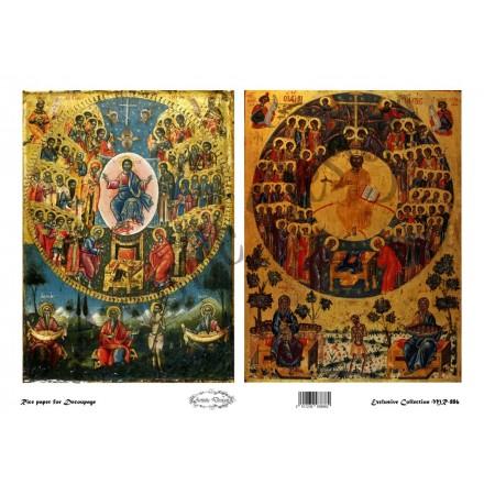"""Ριζόχαρτο Artistic Design για Decoupage 30x40cm, Εικόνα """"Άγιοι Πάντες"""" / MR886"""