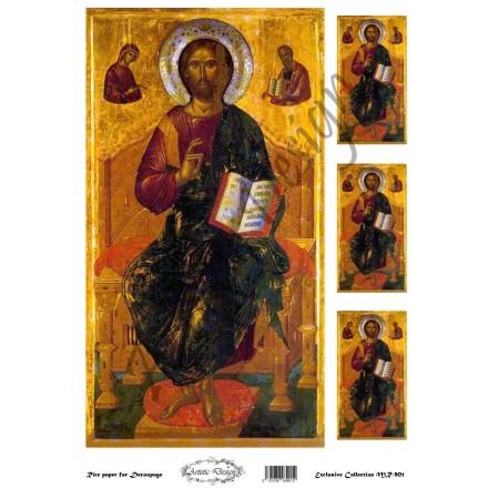 """Ριζόχαρτο Artistic Design για Decoupage 30x40cm, Εικόνα """"Χριστός"""" / MR901"""