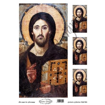 """Ριζόχαρτο Artistic Design για Decoupage 30x40cm, Εικόνα """"Χριστός"""" / MR902"""