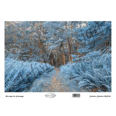Ριζόχαρτο Artistic Design για Decoupage 30x40cm, Χειμωνιάτικο τοπίο / MR923