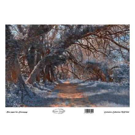 Ριζόχαρτο Artistic Design για Decoupage 30x40cm, Χειμωνιάτικο τοπίο / MR924