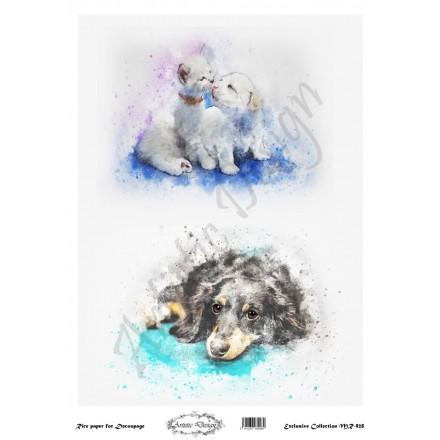 Ριζόχαρτο Artistic Design για Decoupage 30x40cm, cats & dogs / MR928