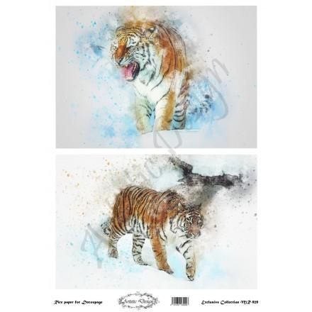 Ριζόχαρτο Artistic Design για Decoupage 30x40cm, tiger / MR929